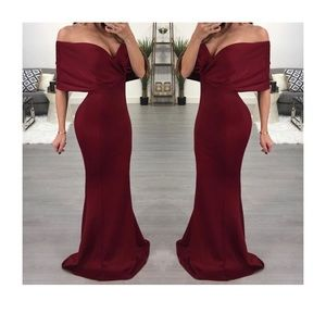 Evening Gown - Wine & Size L